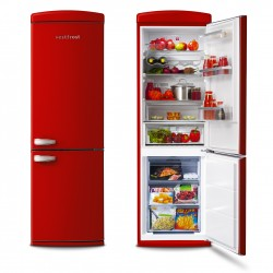 Free-standing Fridge-freezer in red
